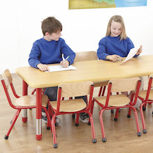 Copenhagen Rectangular Eight Seat Classroom Table  medium