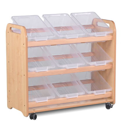 Playscapes Tilt Tote Storage Trolley 9 Tubs  large