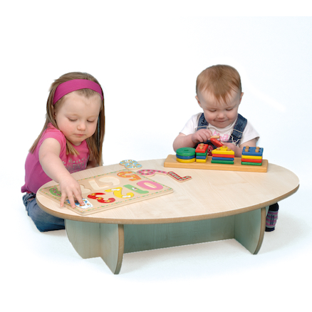 Mini Toddler Extra Low Table Maple  large