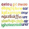 50 Large Magnetic Phonics Letter Sounds 160mm H  small