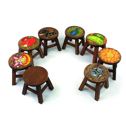 Wooden Stools 8pk  large