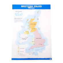 Simple UK Map A1 Political and Relief  medium