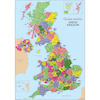 United Kingdom Map Vinyl A1  small