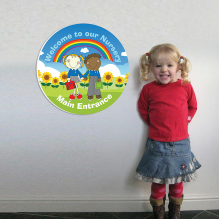 Welcome to our Nursery Entrance Sign 45cm  large