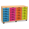Mobile Tray Storage Unit With 32 Shallow Trays  small