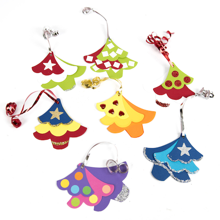 Triple Tree Christmas Decorations  large