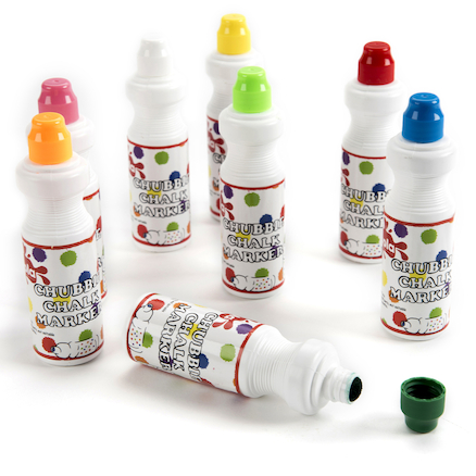 Chubbie Liquid Chalk Markers Assorted 8pk  large