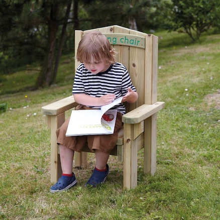 Outdoor Wooden Childrens Reading Chair  large