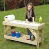 Outdoor Wooden Tray Table  small