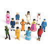 Small World Plastic Multicultural Figures  small