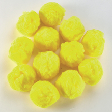 Large Yellow Pom Poms 12pk  medium