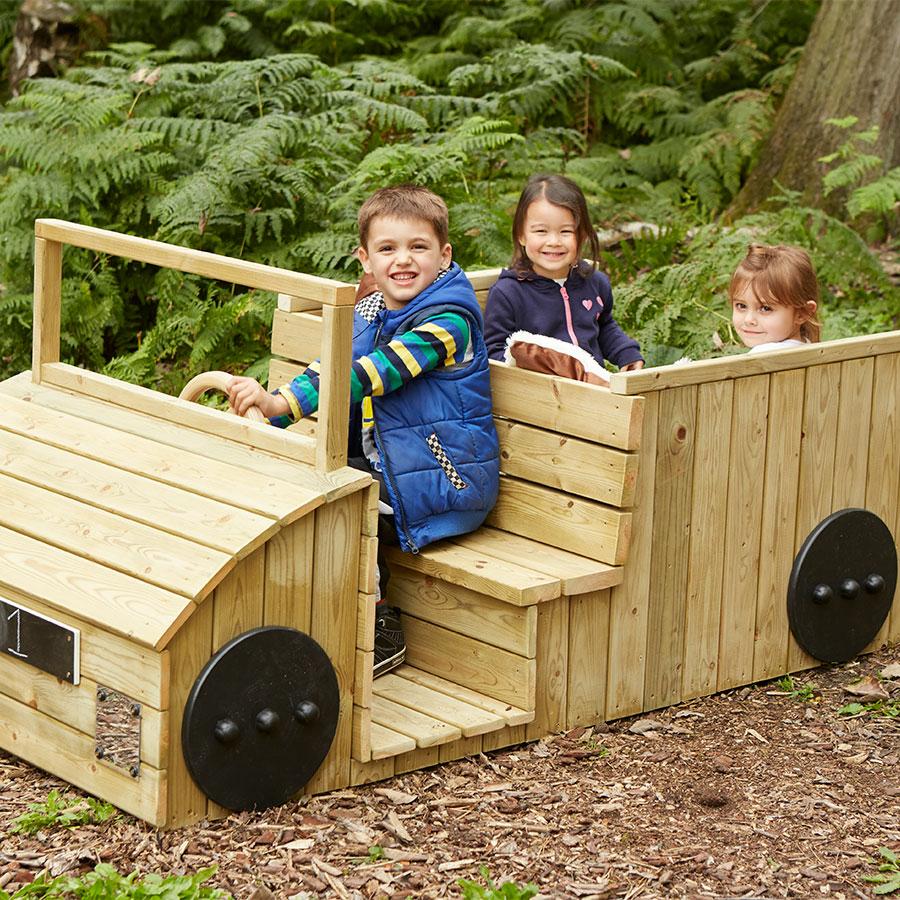 Buy outdoor wooden role play truck tts