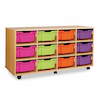 Mobile Tray Storage Unit With 12 Deep Trays  small