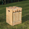 The Outdoor Wooden Role Play Kitchen  small