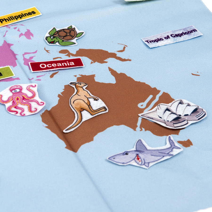 Buy fabric world map tts giant fabric world map with 196 motifs small gumiabroncs Gallery