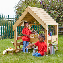 Wooden Mud Kitchen House  medium