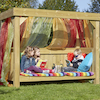 Outdoor Wooden Reading Super Seat  small