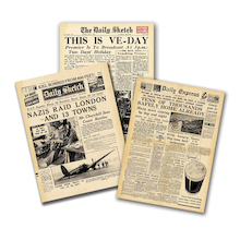 WW2 Wartime Newspapers 3pk  medium