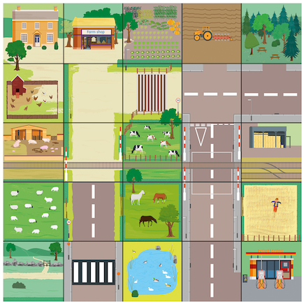 Bee\-Bot Countryside Mat  large