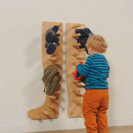 Wellie Shaped Wooden Wellie Rack  large