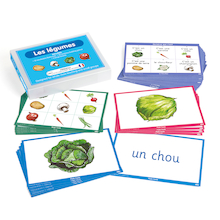 French Vocabulary Builders - Vegetables  medium