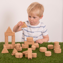 Cork Assorted Shape Building Blocks 28pk  medium