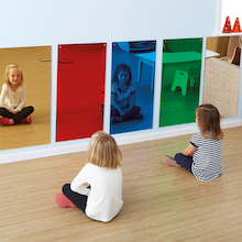 Rainbow Wall Mirror Red 80 x 40cm  medium