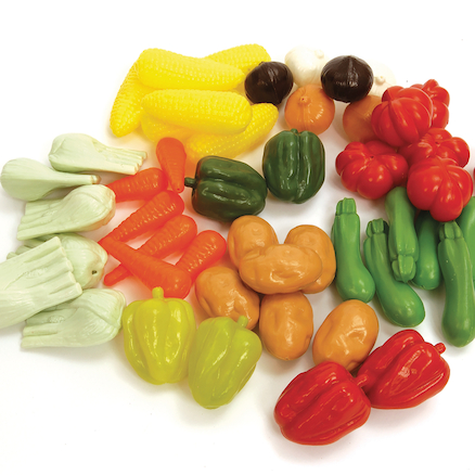 Role Play Plastic Vegetables 48pcs  large