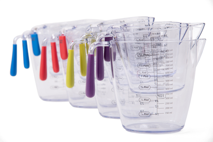 Multicoloured Measuring Jugs  large