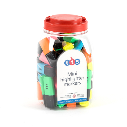TTS Mini Highlighters Assorted 50pk  large