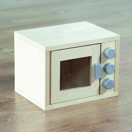 Role Play Wooden Microwave  large