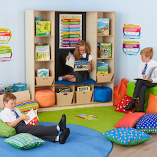 Bookcase with Seating  medium