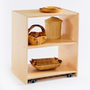 Essentials Indoor Natural Wooden Open Shelf Unit  small