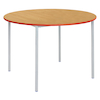 Fully Welded Tables Coloured Edge Circular  small