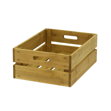 Wooden Crate Natural  large