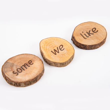 Wooden Tricky Word Pieces  large