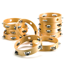 Headless Tambourines 10pk  medium
