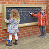 Wall Mounted Chalkboard in Wooden Frame  small