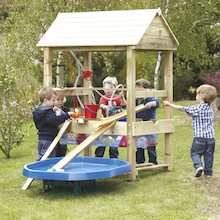 Super Outdoor Wooden Sand and Water Unit  medium