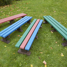 Recycled Plastic Three Seater Bench  medium