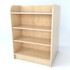 Double Sided Library Bookcase In Maple  small