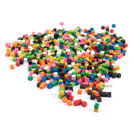 Plastic Interlocking Colour Cubes  large