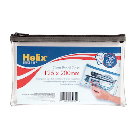 PVC Pencil Case 125 x 200mm 12pk  large