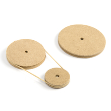 Wooden Pulleys 10pk  medium