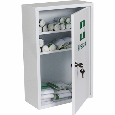 Lockable Wall Mounted First Aid Cabinet  large