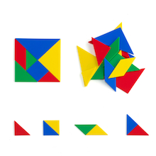 Soft Plastic Tangrams 28pcs  medium