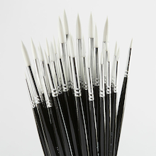 Synthetic Sable Paint Brushes Assorted 50pk  medium