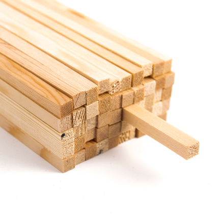 Square Section Wood 8mm 50pk  large