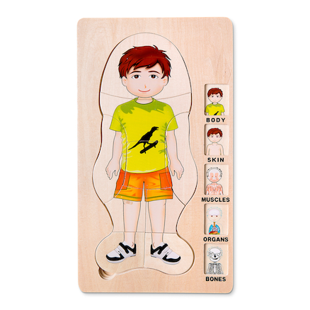 Wooden Layered Jigsaw \- Girl   large