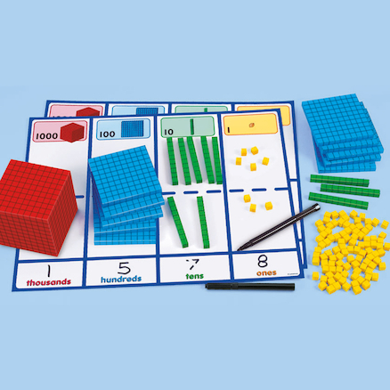 Dry Wipe Place Value Activity Kit  large
